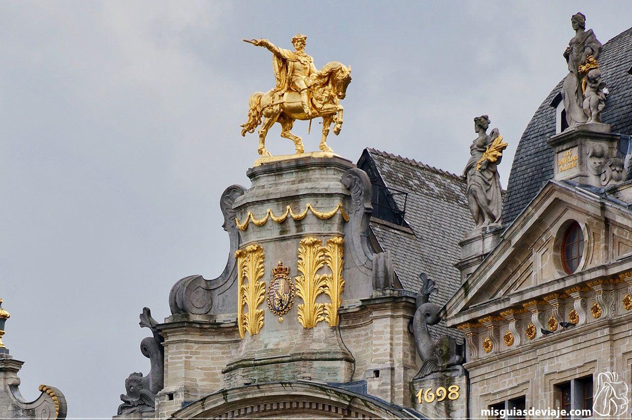Detalle de las casas gremiales de la Grand place