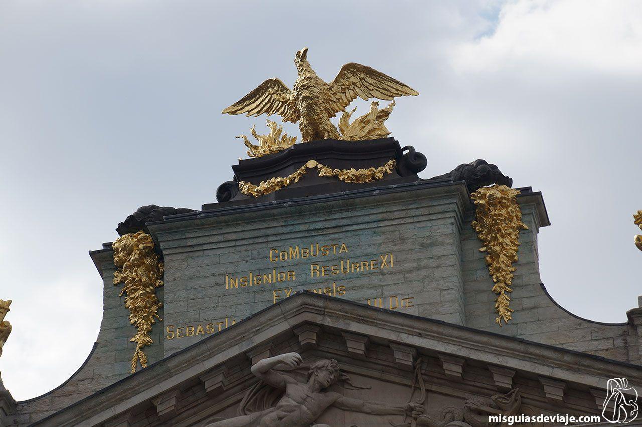 Detalle de las casas gremiales de la Grand place de Bruselas