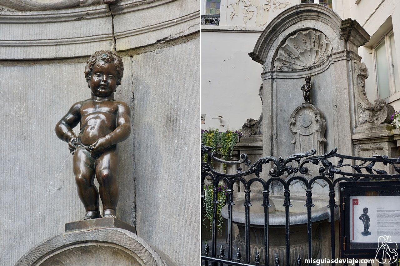 Manneken pis niño meón de Bruselas