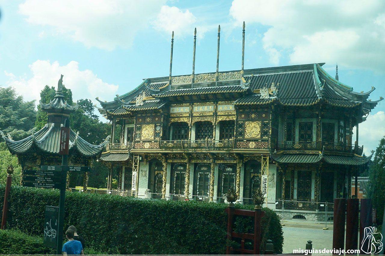 Pabellón chino en los Museos del Lejano Oriente de Bruselas