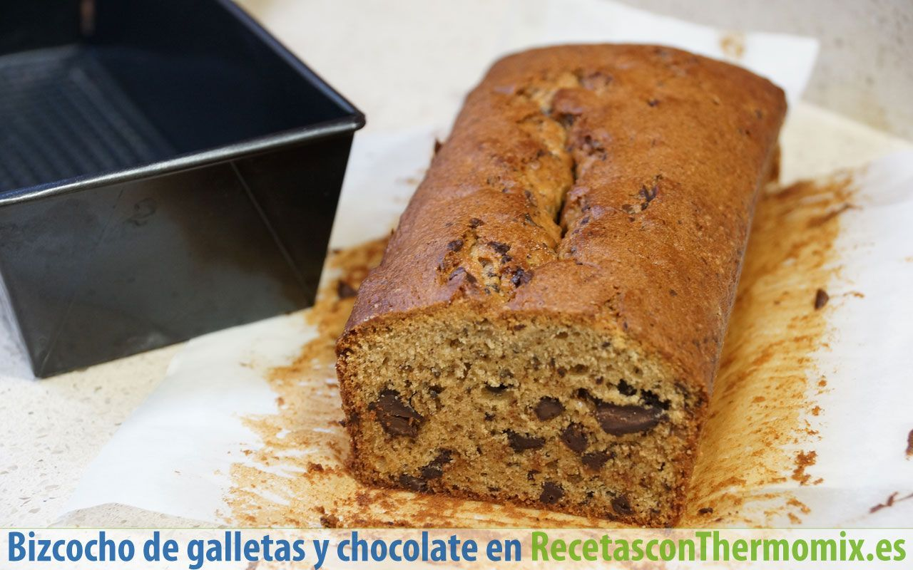 Bizcocho de galletas y chocolate en Thermomix