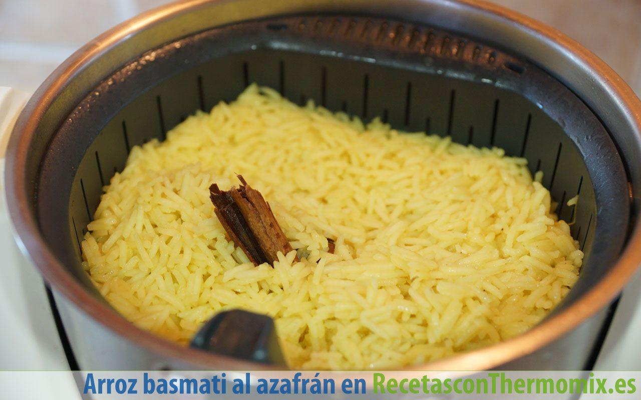 Cómo hacer arroz basmati al azafrán con pollo Thermomix