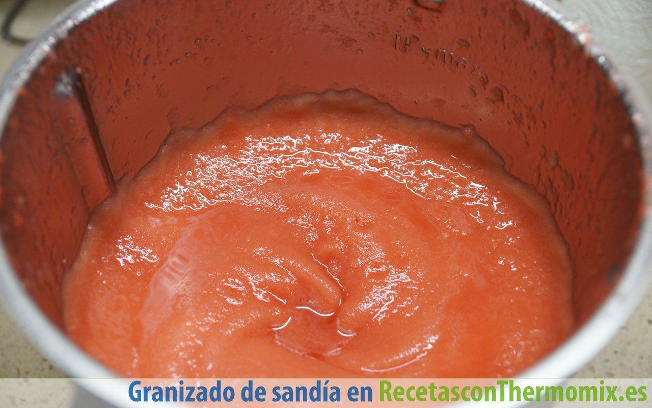 Cómo hacer granizado de sandía con Thermomix