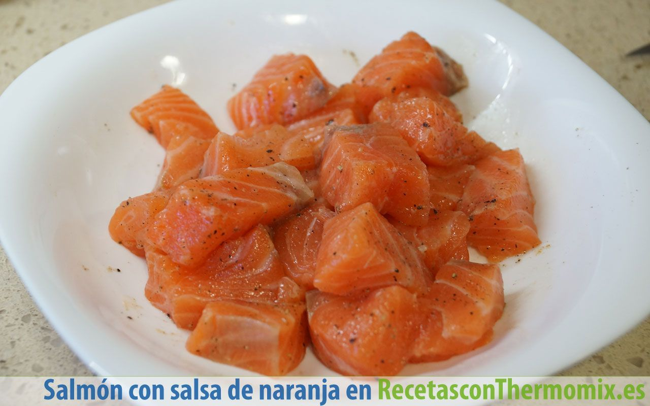 Cómo preparar salmon con salsa de naranja con Thermomix