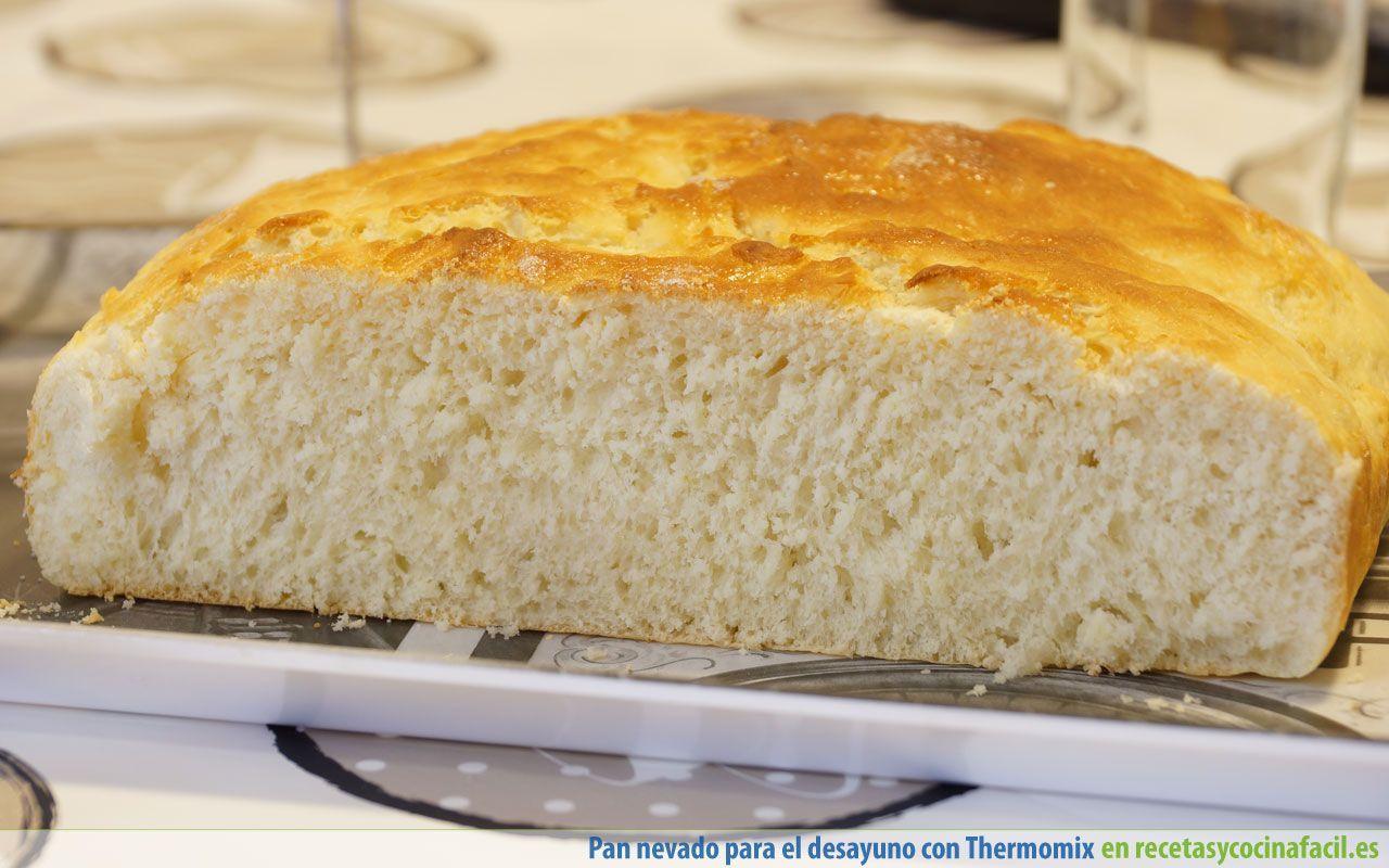 Corte de pan nevado para el desayuno con Thermomix
