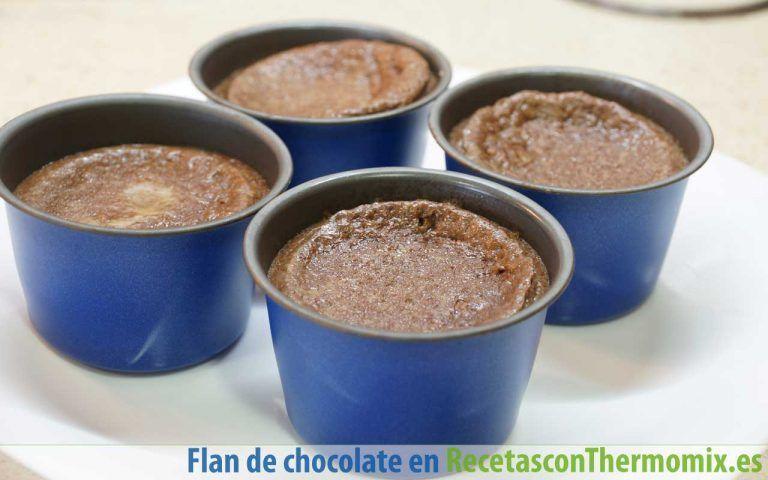 Flaneras con flan de chocolate con Thermomix