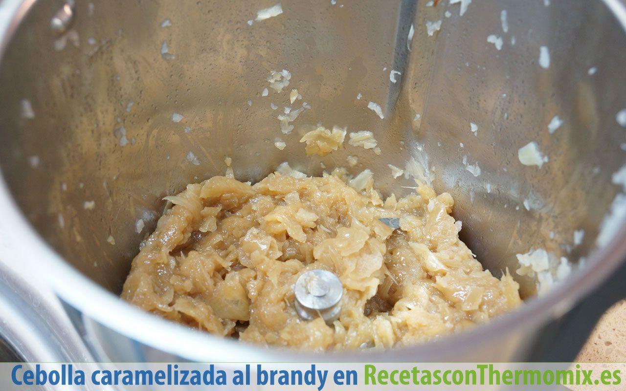 Cómo hacer cebolla caramelizada al brandy con Thermomix