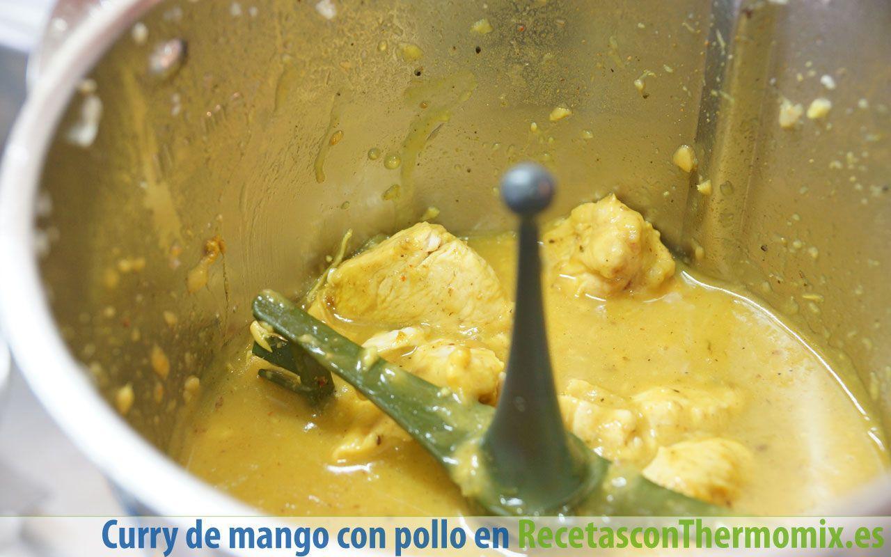 Cómo hacer curry de mango con pollo en Thermomix