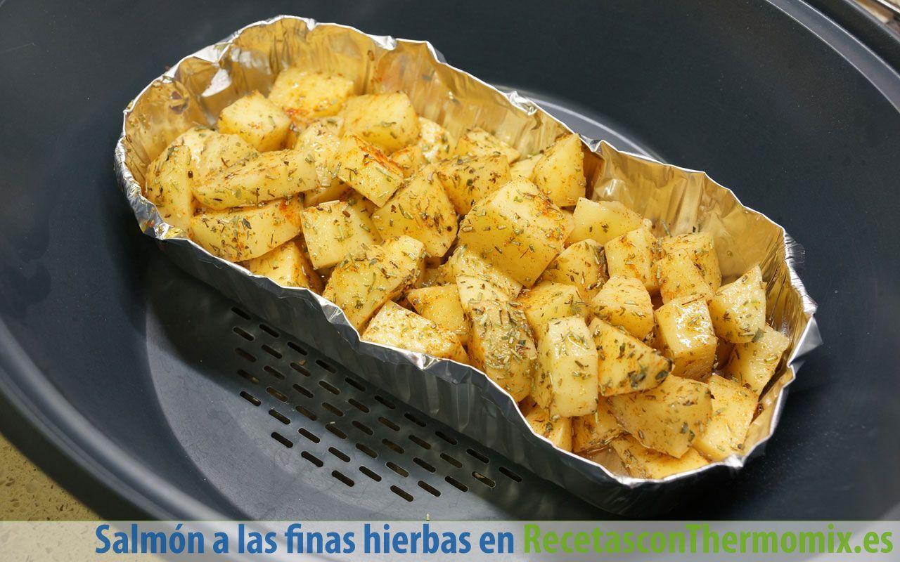 Cómo hacer patatas a las finas hierbas con Thermomix
