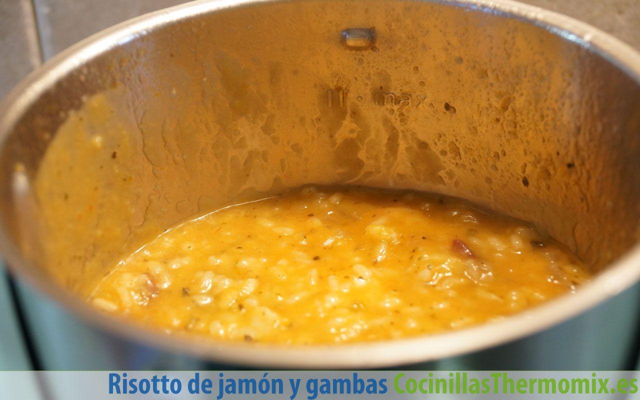 Cómo hacer risotto de jamón y gambas en Thermomix