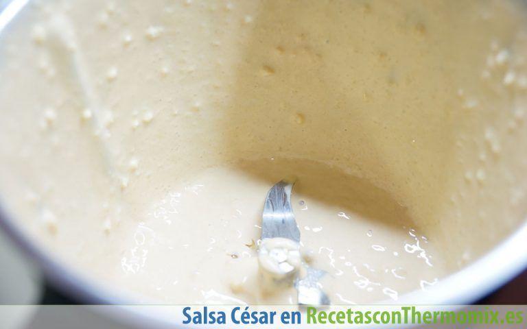 Cómo hacer salsa César Thermomix