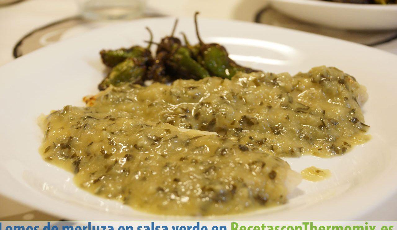 Lomos de merluza en salsa verde con Thermomix
