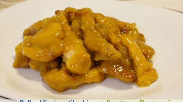 Pollo al limón estilo chino Thermomix
