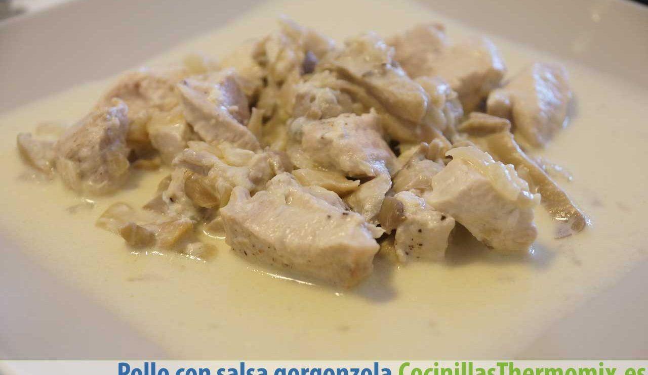 Pollo con salsa gorgonzola Thermomix