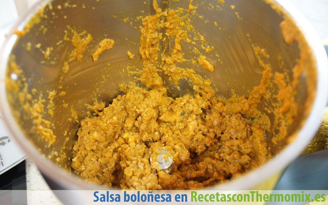 Cómo preparar salsa boloñesa con Thermomix