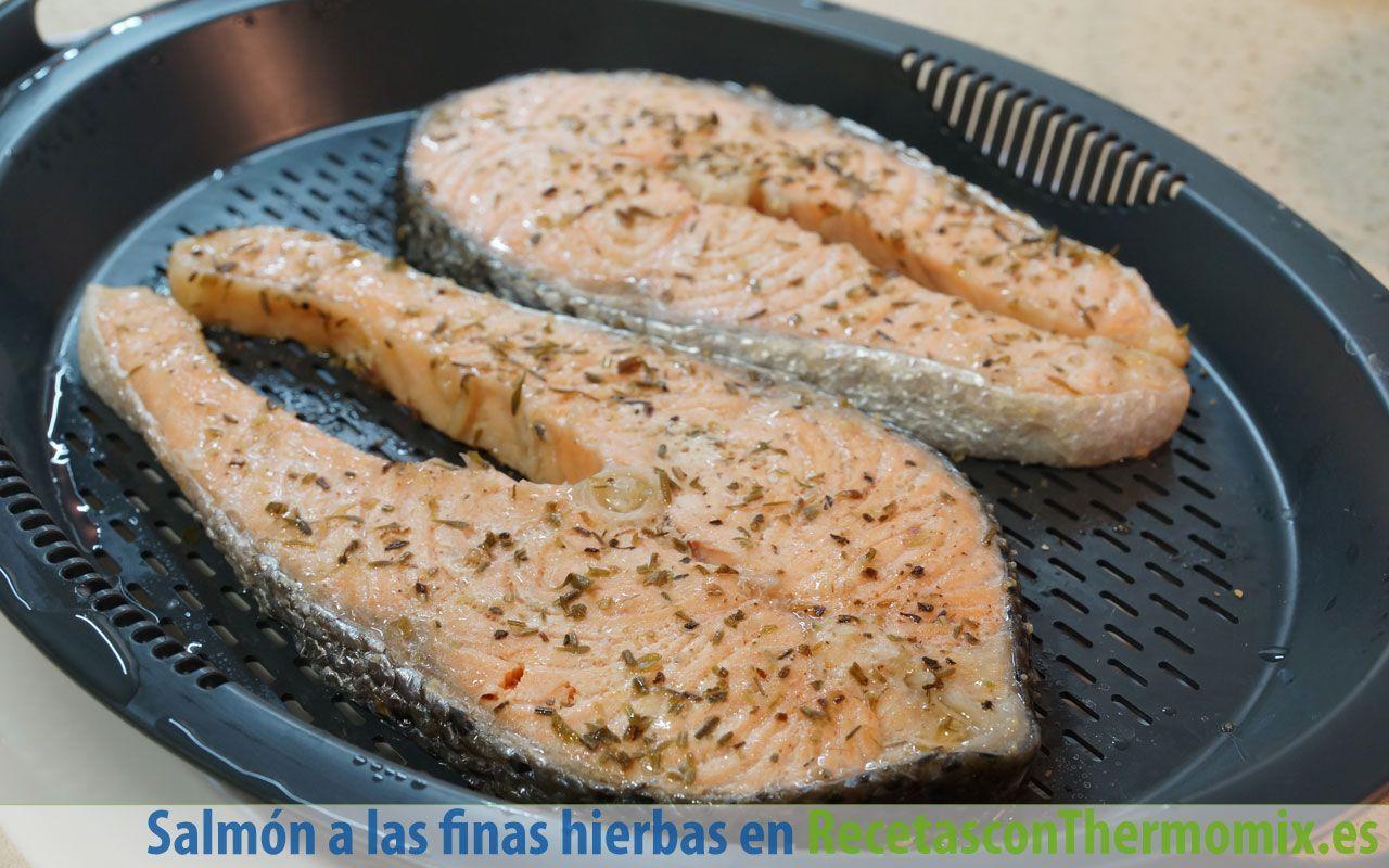 Cómo hacer salmón a las finas hierbas con Thermomix