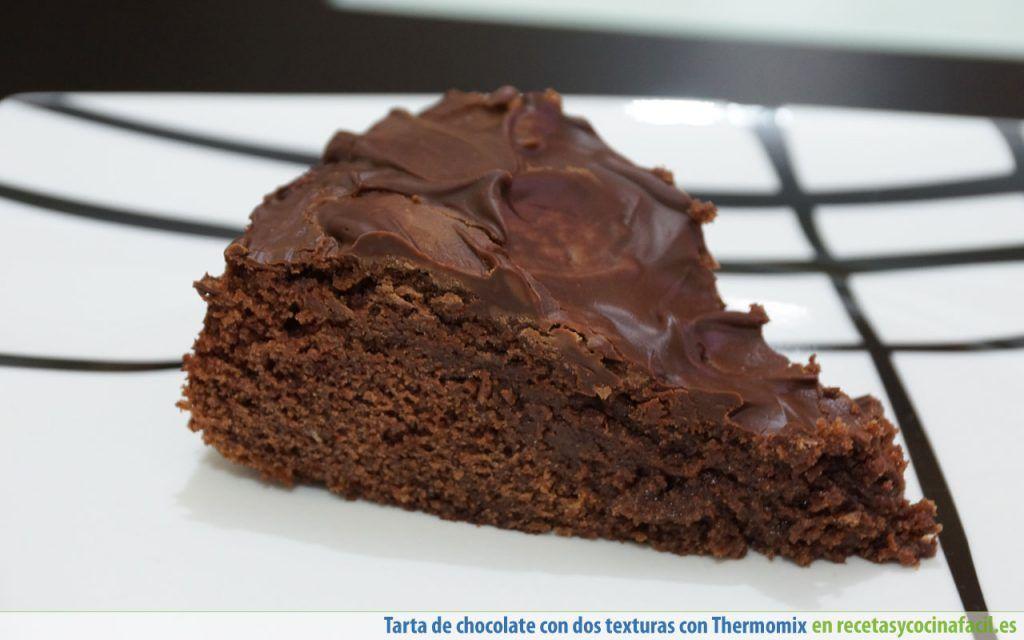 Tarta de chocolate con dos texturas con Thermomix