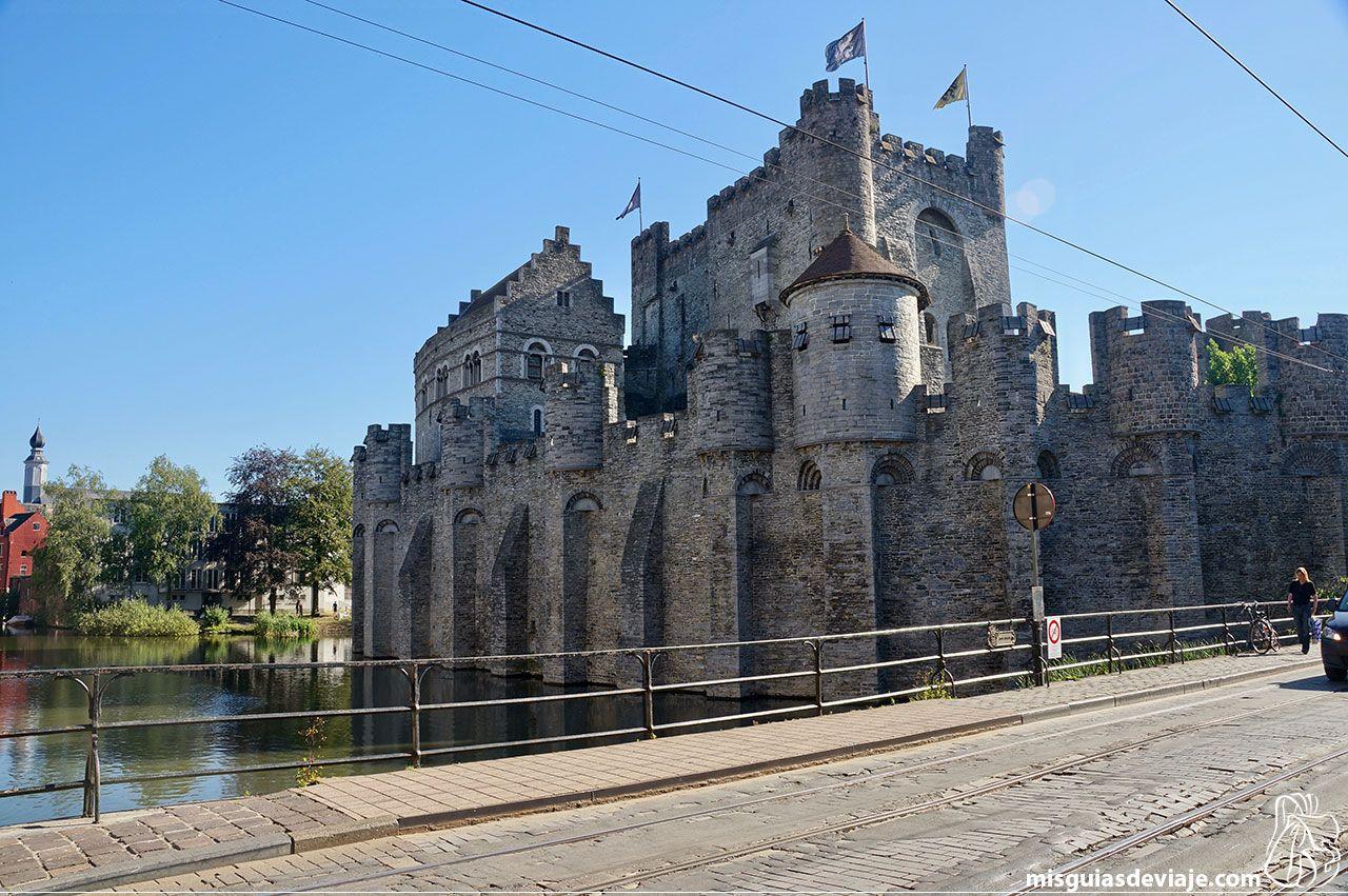 Castillo Gravensteen o Castillo de los Condes de Flandes en Gante
