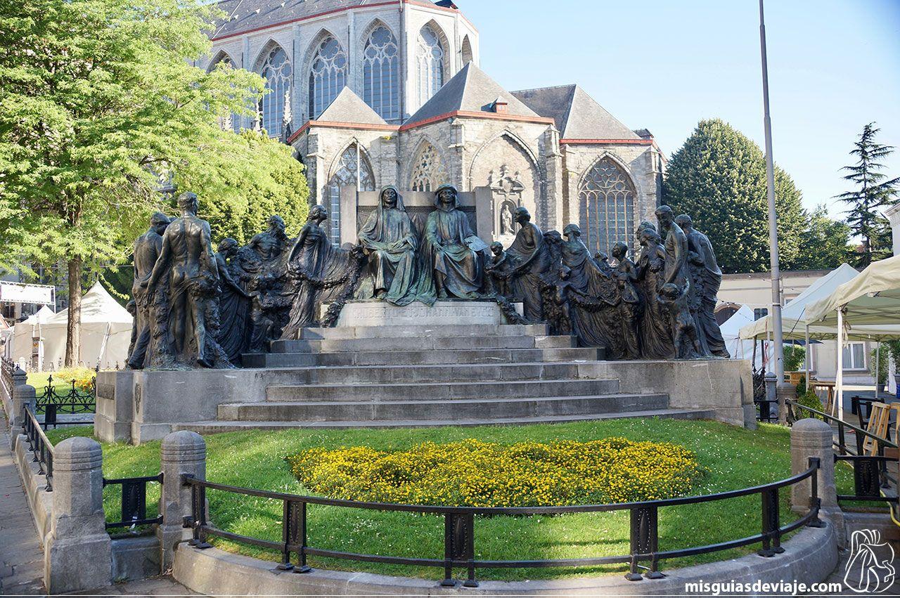 Monumento a los hermanos Van Eyck en Gante