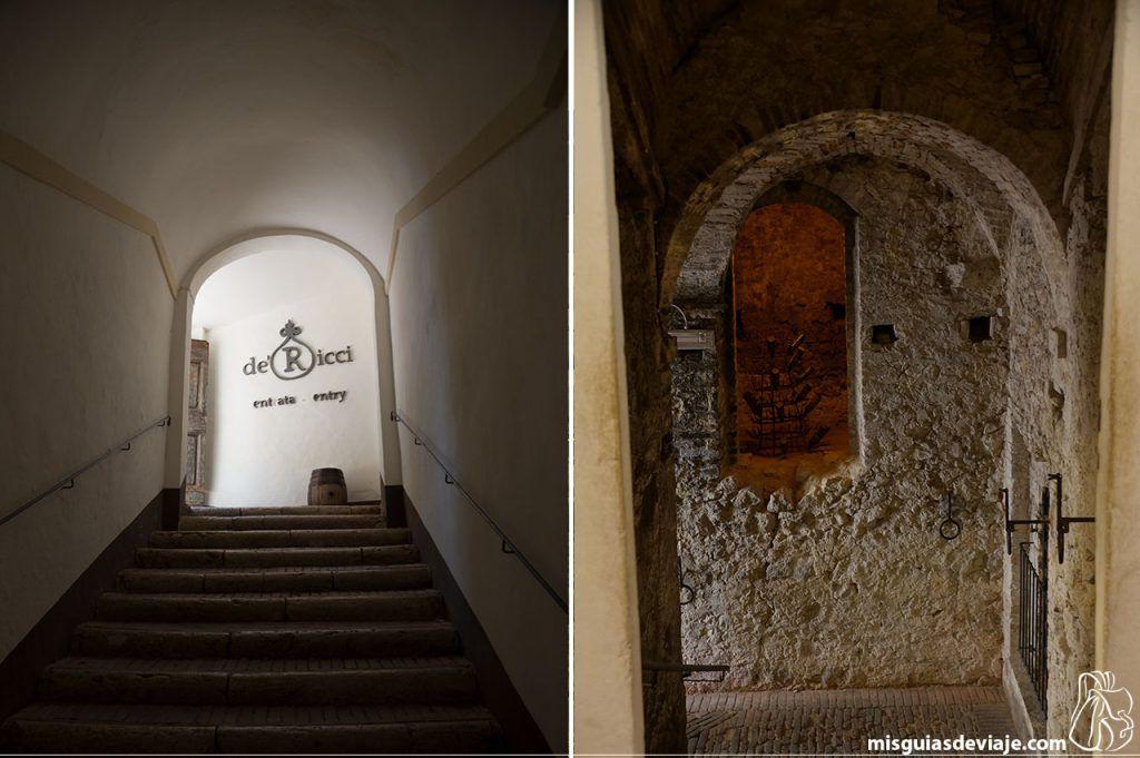 Bodega de Ricci en Montepulciano