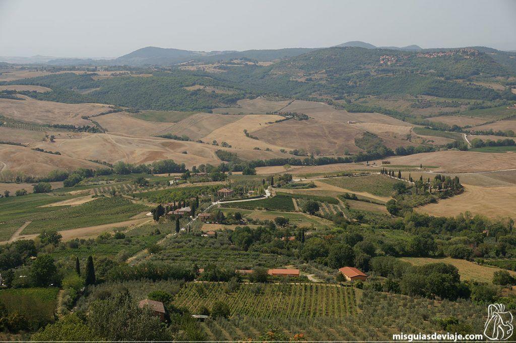 Vistas a la Toscana desde Montepulciano