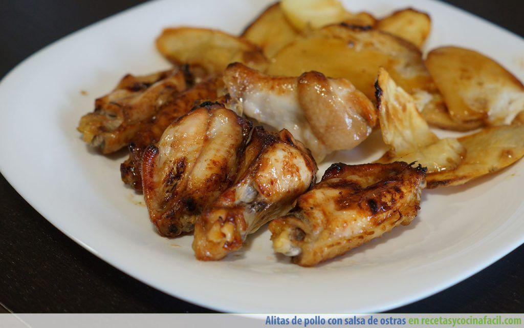 Alitas de pollo al horno con salsa de ostras