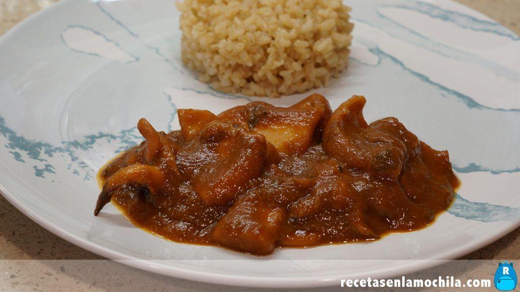Sepia en salsa de forma casera