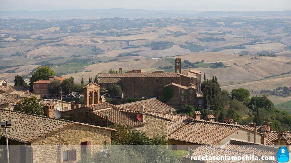 Vistas desde la fortezza de Montalcino