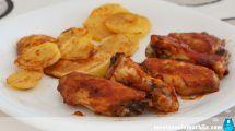 Alitas de pollo al horno con salsa barbacoa fáciles y rápidas