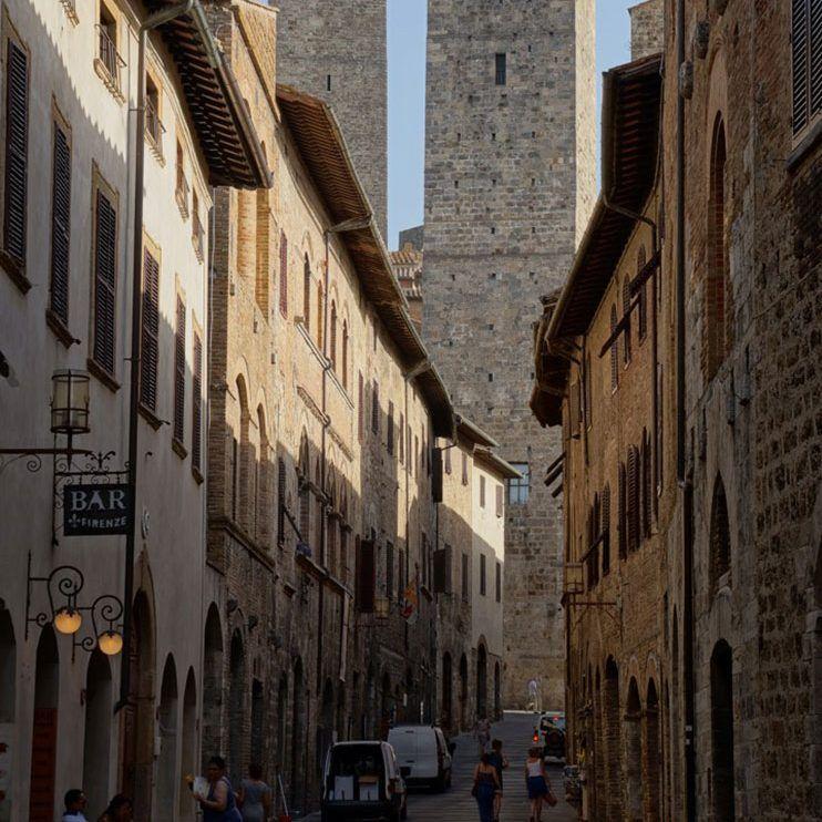 Calle de San Giovanni en San Gimignano