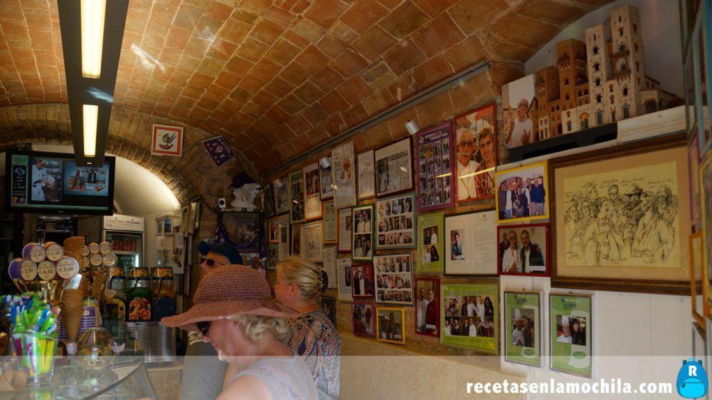 Heladería Dondoli en San Gimignano