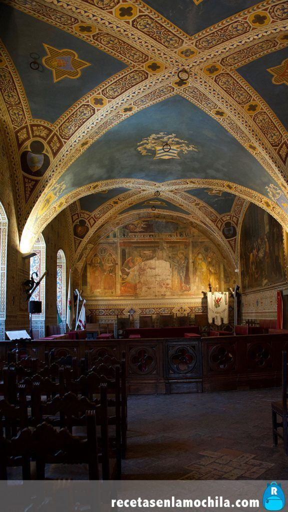 Interior del palacio Priori en Volterra