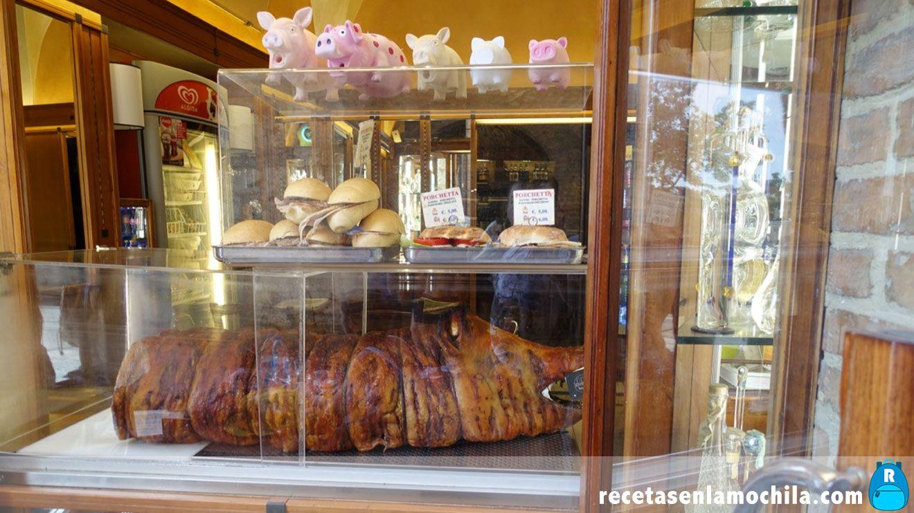 Porchetta en San Gimignano