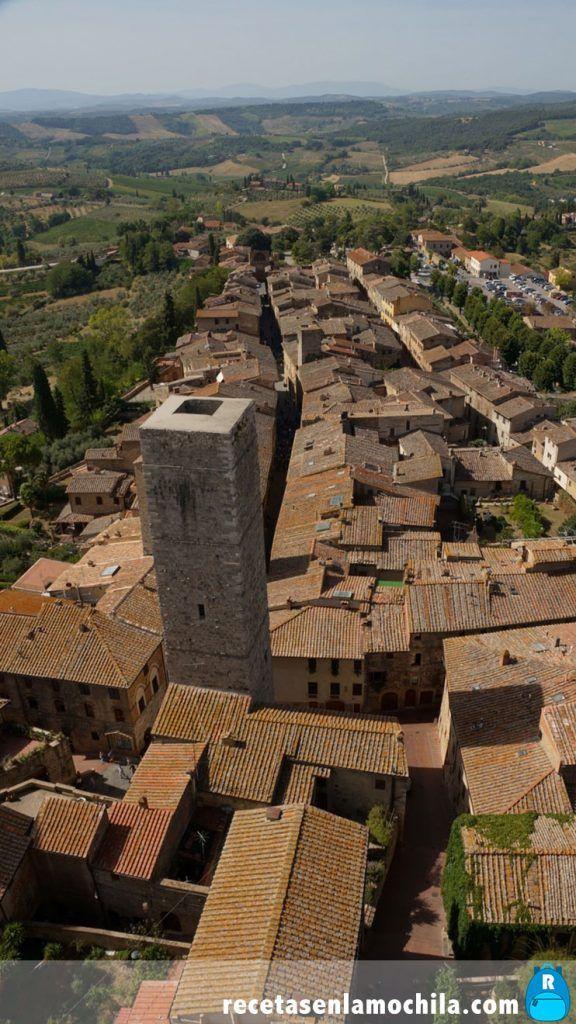 Vistas de San Gimignano y la Toscana