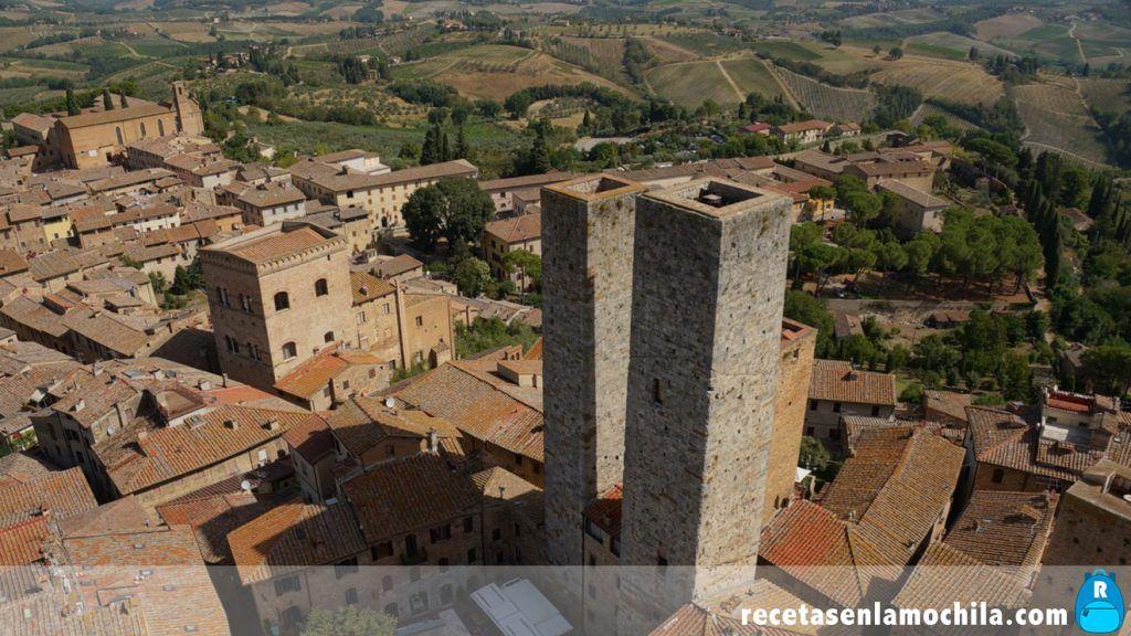 Vistas desde la Torre Grossa de San Gimignano