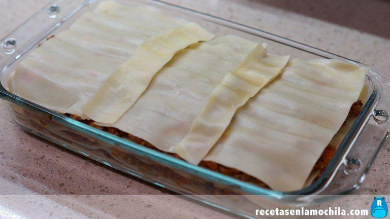 Cómo hacer lasaña de carne picada