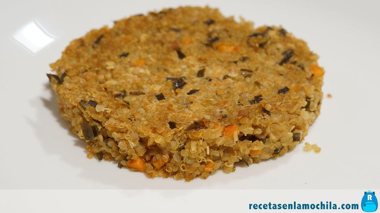Hamburguesas de quinoa y algas