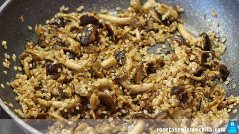 Cómo preparar risotto con boletus y tomates secos