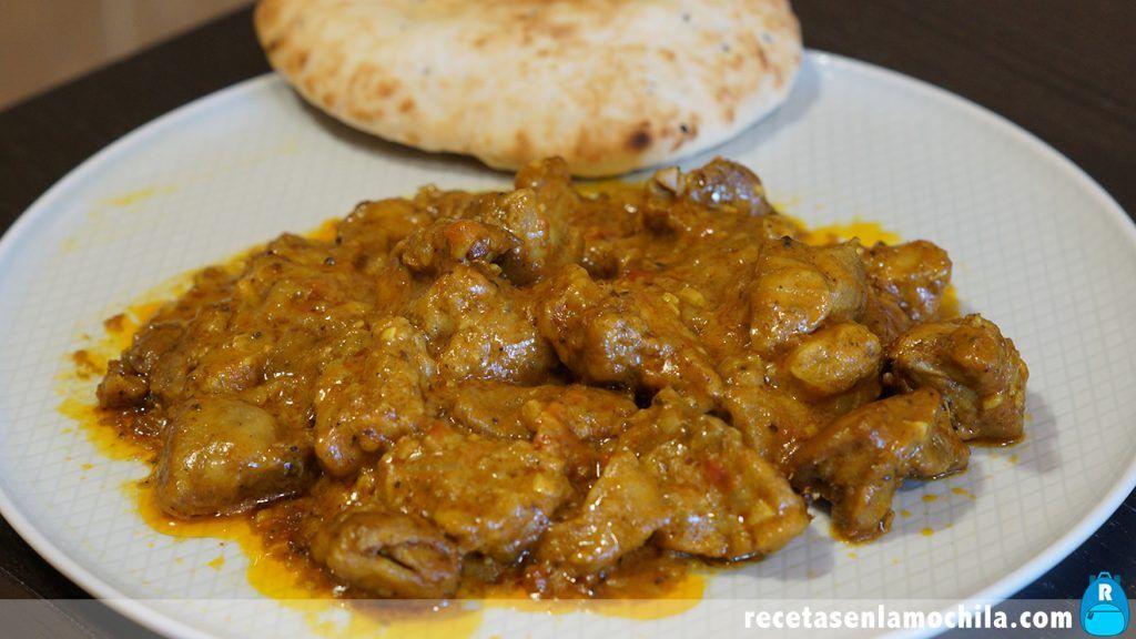 Curry de pollo tikka masala