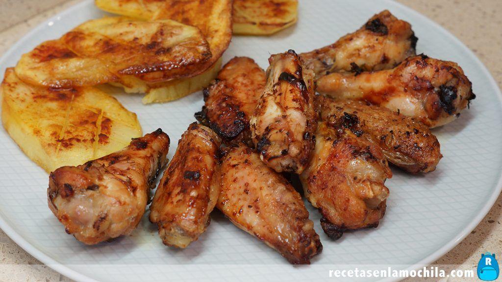 Alitas de pollo al ajillo al horno