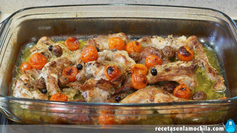 Cómo hacer conejo al horno estilo mediterráneo