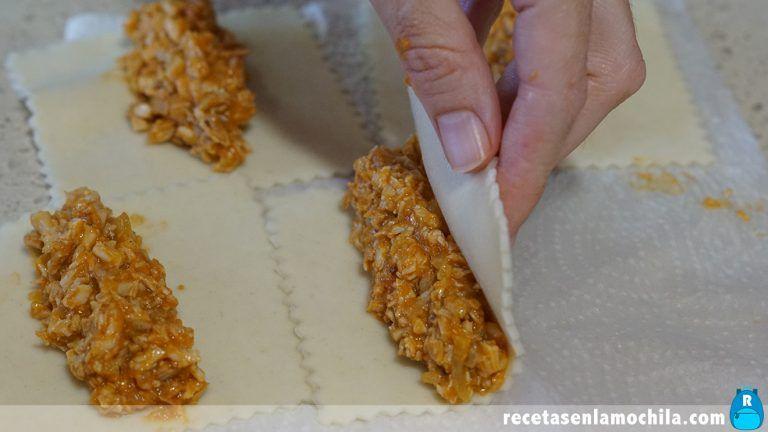 Cómo preparar canelones de pollo
