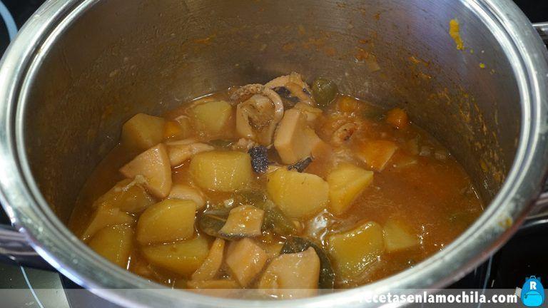Cómo hacer guiso de sepia con patatas