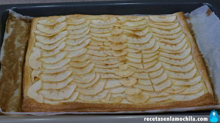Cómo hacer tarta de manzana de hojaldre y crema pastelera