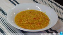 Dhal o curry de lentejas rojas