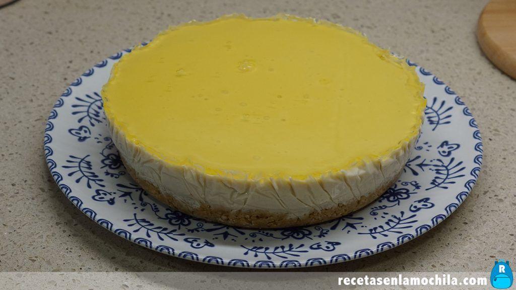 Receta de tarta de yogur sabor limón sin horno