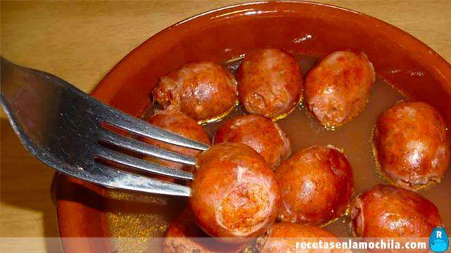 Chorizos a la sidra con Thermomix
