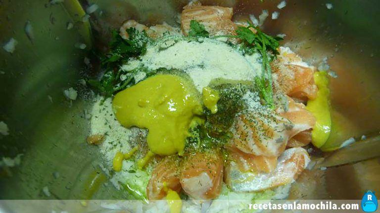 Cómo hacer hamburguesas de salmón en Thermomix