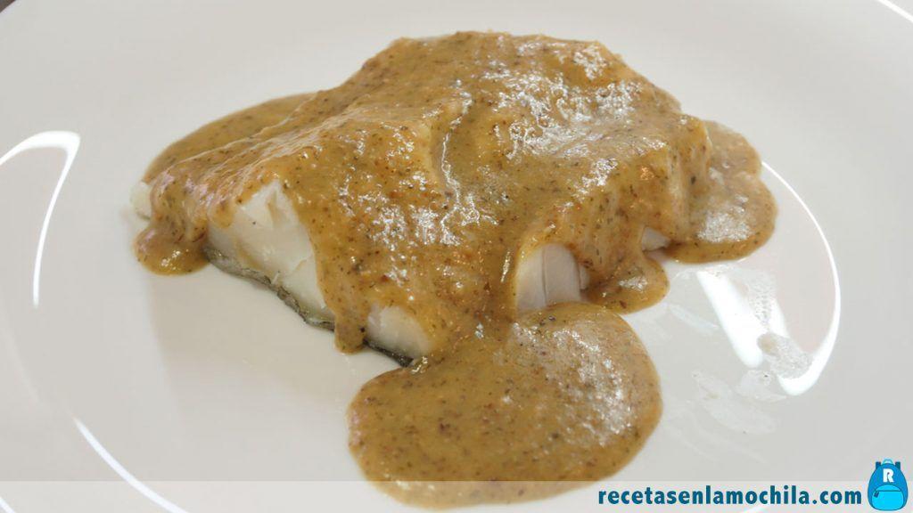 Receta de bacalao en salsa de almendras con Thermomix