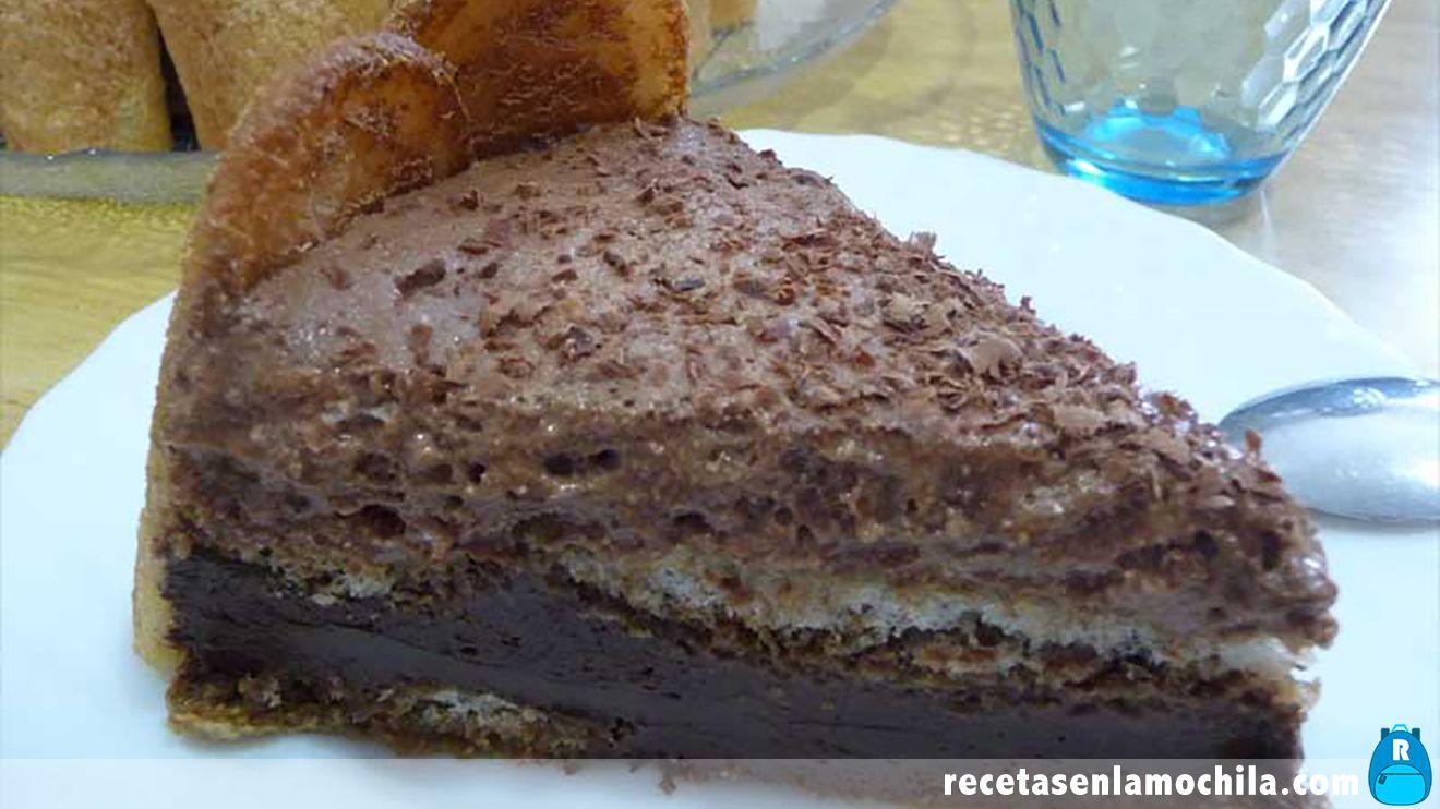 Tarta mousse de chocolate con Thermomix